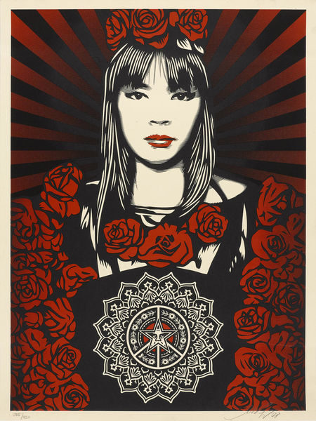Shepard Fairey-Rose Girl; Don't Believe Your Own Eyes-2008