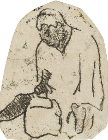 Paul Gauguin-Homme Assis Tourne Vers La Gauche-1902