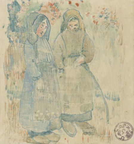 Paul Gauguin-Deux Bretonnes-1894