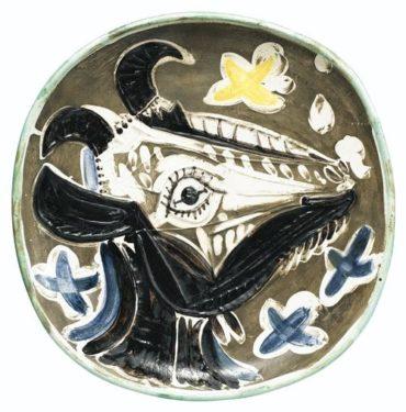 Pablo Picasso-Tete De Chevre De Profil (A. R. 151)-1952