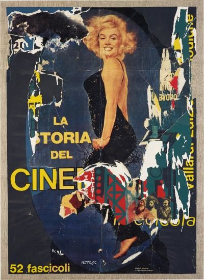 Mimmo Rotella-Marilyn Bellezza Eterna-1982