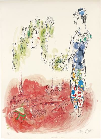 Marc Chagall-Le Magicien De Paris II (The Magician Of Paris II)-1970