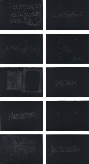 Joseph Beuys-James Lee Byars-Frammenti Veneziani (I-IIIIIIIIII)-1980