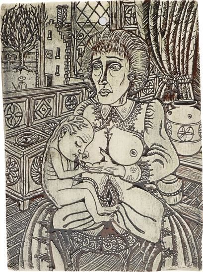 Grayson Perry-Untitled (Mother And Child)-1985