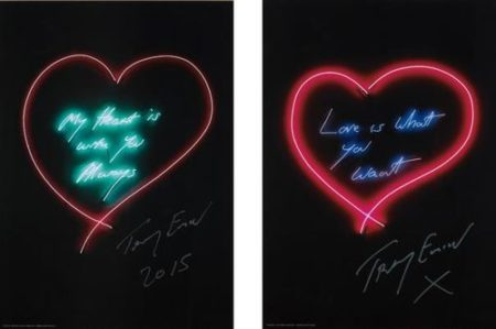 Tracey Emin-My Heart Is With You Always; And Love Is What You Want-2015