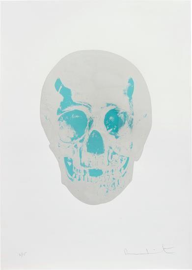 Damien Hirst-The Dead (Silver Gloss/Topaz Skull)-2009