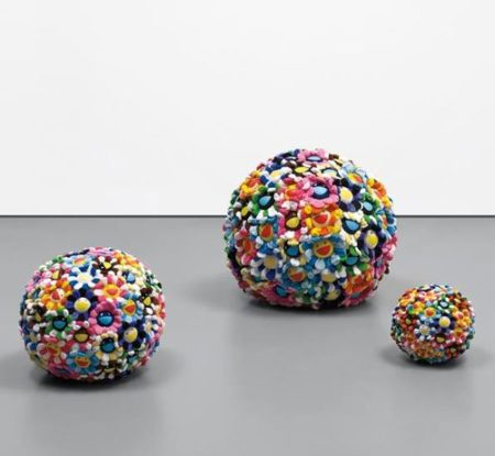 Takashi Murakami-Plush Flowerball (Set Of Three)-2003