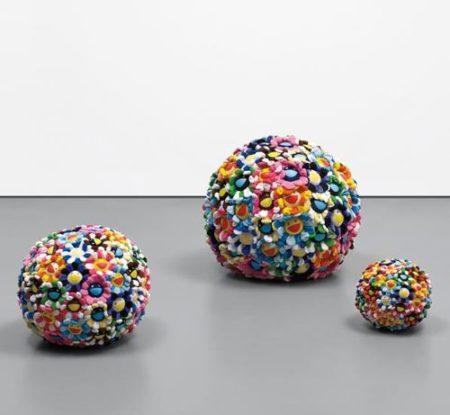 Takashi Murakami-Plush Flowerball (Set Of Three)-2003