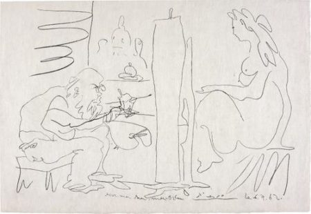 Pablo Picasso-Le Peintre Et Son Modele (The Painter And His Model)-1962