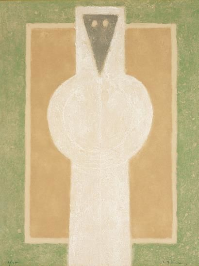 Rufino Tamayo-Personaje Blanco (White Person)-1976