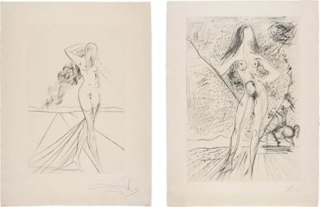 Salvador Dali-Venus; And Venus De Las Constellaciones Con Picador (Venus; And Venus Of The Constellations With Bullfighter)-1975