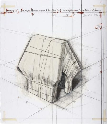 Christo and Jeanne-Claude-Wrapped Snoopy House, Project For Charles M. Schulz Museum-2004