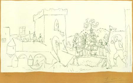 Pablo Picasso-After Pablo Picasso - L'Arrivee du Chevalier-1951