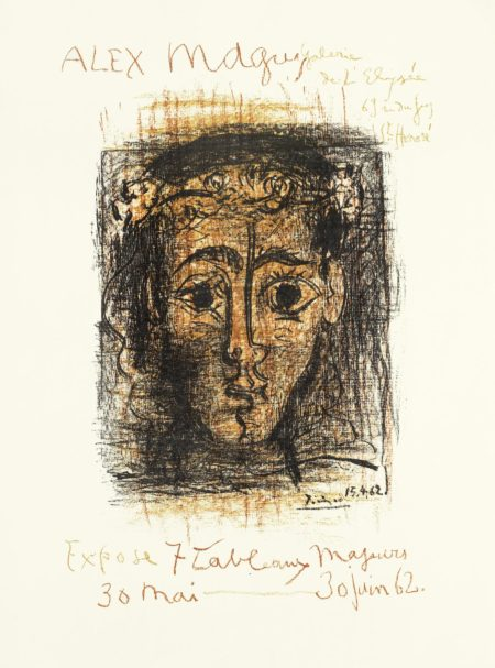 Pablo Picasso-Poster for the Alex Maguy Gallery (Mourlot 382)  unframed-1962