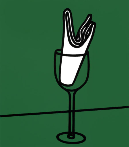 Patrick Caulfield-Her handkerchief swept me along the Rhine, from Some Poems of Jules Laforgue unframed-1973