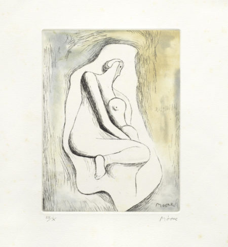 Henry Moore-Sketchbook 1928 The West Wind Relief-1980