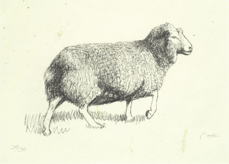 Henry Moore-Sheep Walking-1974