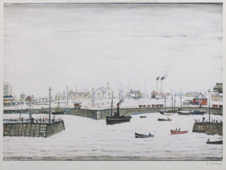 Laurence Stephen Lowry-The Harbour-1972