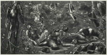 Edward Burne-Jones-The Knight Enters the Briar Wood, from The Legend of Briar Rose-1892
