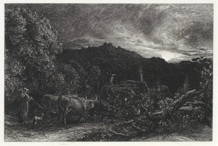 Samuel Palmer-Collection of Four Etchings (The Weary Ploughman, The Early Ploughman)-1858