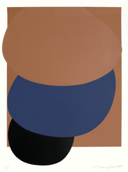 Terry Frost-Brown, Blue and Black Descending unframed-1981