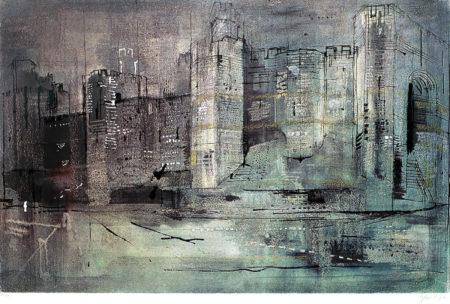 John Piper-Caernarvon Castle-1971