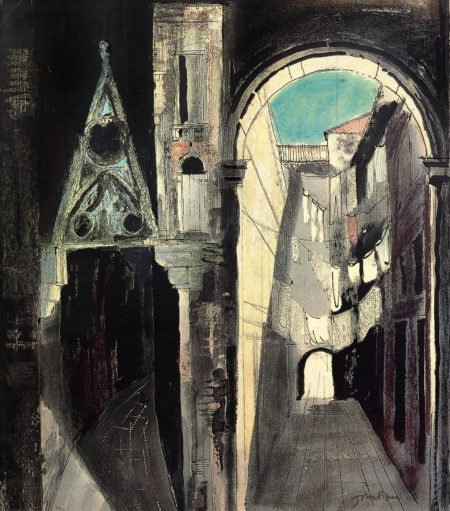 John Piper-Death In Venice III-1973