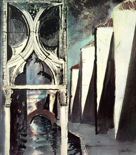 John Piper-Death In Venice VIII-1973