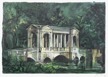 John Piper-After John Piper - The Palladian Bridge, Stowe; Boycott Pavillion, Stowe  unframed-1983