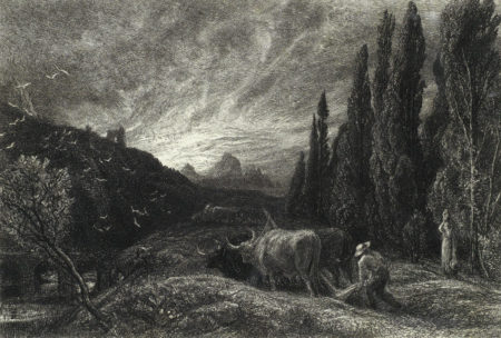 Collection of Four Etchings (The Herdsman's Cottage, The Early Ploughman)-1861