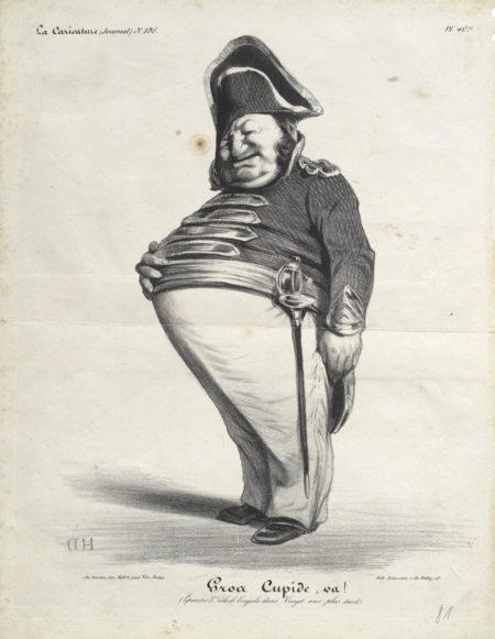 Honore Daumier-A Collection of Fourteen Lithographs ('Recompense honnete', 'Partez mon cher', 'De tes humbles foutriquets', 'Depart pour l'Espagne', 'Philippe mon pere', 'Yeux noirs', 'Gros Cupide, La Jument du Prince', 'Ou allons-nous', 'La Tete branlante', 'Le Moulin du Telegraphe', 'Un grand mortier', 'Atheniens', 'Le Carcan')-