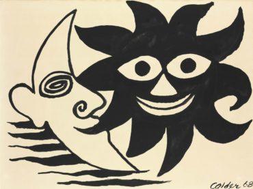 Alexander Calder-Meeting of Sun and Moon-1968