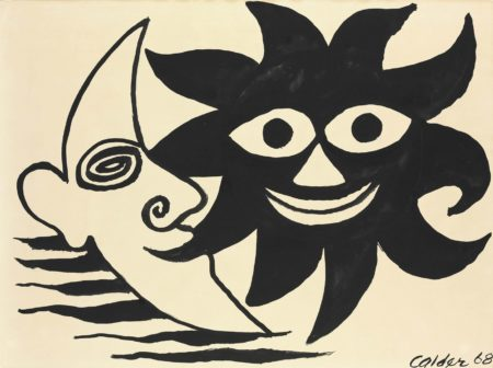 Alexander Calder-Meeting of Sun and Moon-1968