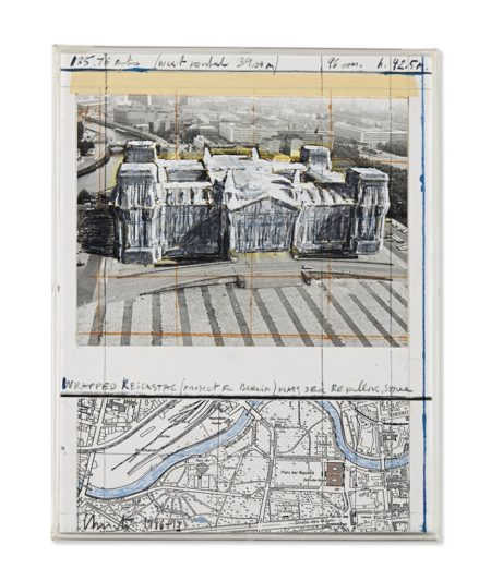 Christo and Jeanne-Claude-Wrapped Reichstag (Project for Berlin)-1994