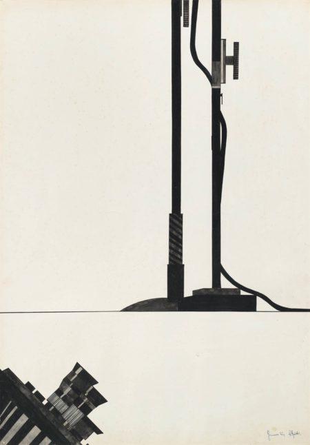 Alighiero Boetti-Cinepresa e aste da microfono-1965