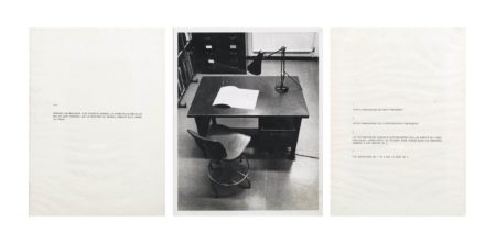 Victor Burgin-Performative / Narrative (le bureau)-1971