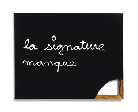 Ben Vautier-La signature manque (Le Ben manque)-1973