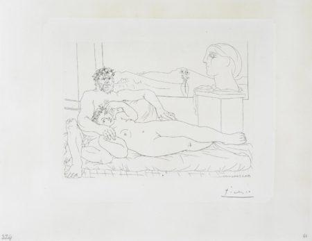 Pablo Picasso-Le Repos du Sculpteur II, from La Suite Vollard-1933