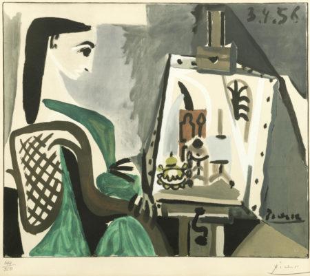 Pablo Picasso-After Pablo Picasso - Femme dans L'Atelier-1956