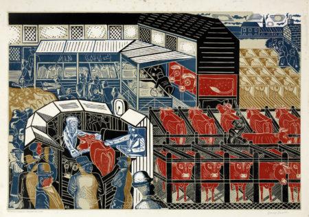 Edward Bawden-Cattle Market, Braintree-1937