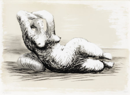 Henry Moore-Reclining Woman on Beach-1982