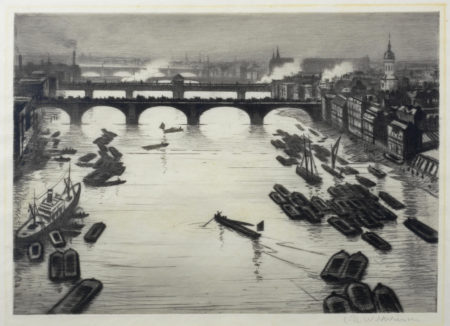 Christopher R. W. Nevinson-London Bridges-1920