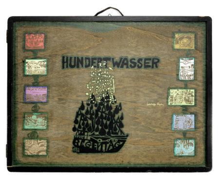 Friedensreich Hundertwasser-Look at it on a Rainy Day (Regentag Portfolio)  10 folio-1972
