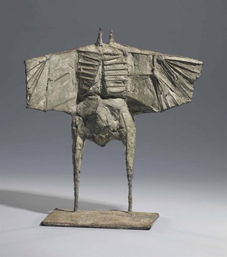 Lynn Chadwick-Maquette for Male Winged Figure-1958