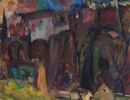 David Bomberg-The Moor's Bridge, Ronda-1935