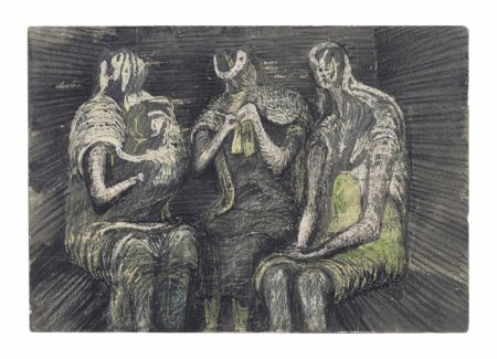 Henry Moore-Three Women in a Shelter-1941