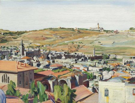 David Bomberg-Jerusalem from the Mount of Olives-1925