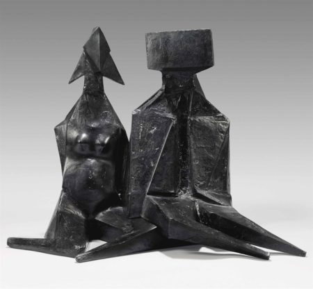 Lynn Chadwick-Pair of Sitting Figures IV-