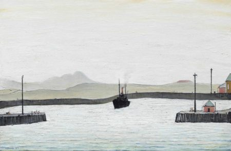 Laurence Stephen Lowry-Harbour Scene-1959