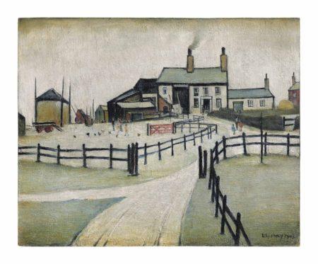 Laurence Stephen Lowry-A Lancashire farm-1943